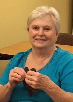 Vickie Kuykendall holding toy