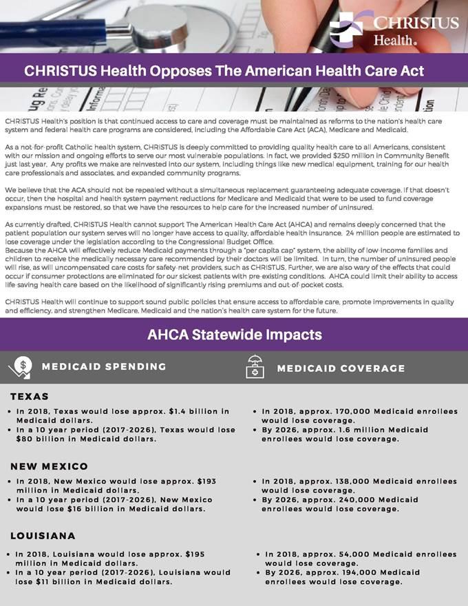 AHCA Opposition
