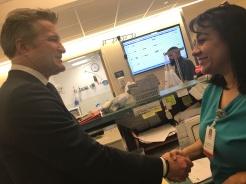 Ernie visit with ER Associate