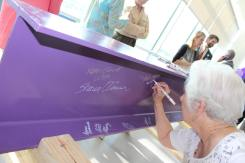 Signature on beam